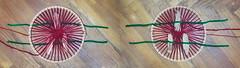 Kunst kommt nicht von schn - Weaving Phantom Pain of the Felled Tree, Improvisation 6: Installing and Arranging - Both sides - beide Seiten - After the Spring Massacre beim Narrenturm (hedbavny) Tags: vienna wien wood red green rot art wool circle rouge austria sterreich outsiderart massacre kunst diary rad workinprogress warp grn weaver holz rosso rund weaving tagebuch baum circular weber loom handwerk verdi kreis procrustes weft webstuhl wolle narrenturm massaker felled runde gefllt kunsthandwerk adom handarbeit weben phantompain maigrn aktionismus weavingloom phantomschmerz prokrustesbett geschlgert teppichweber ungestutzt hedbavny ingridhedbavny fantomschmerz chenilledraht