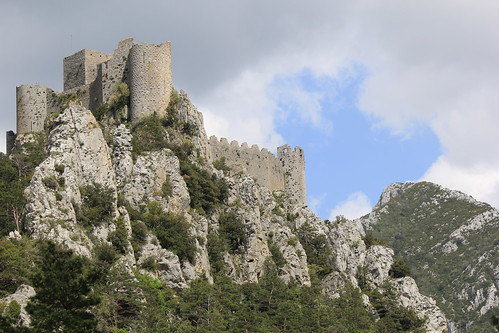 The ruined Cathar fortress of Puilaurens