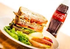 Sandwich (Michael_Burger) Tags: food bread photography burger coke sandwich meat lettuce deli soda cocacola foodphotography