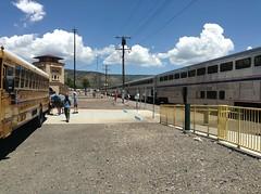 """Boy Scouts @ Raton"" (Trevor5142) Tags: railroad newmexico train photography rat raton trevor boyscouts amtrak scouts schoolbus bsa swc southwestchief superliner amtk nigus amtk3"