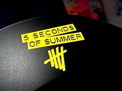 Hi or Hey records. (Daily Rc') Tags: summer black records love yellow night dark photography michael photo amazing nice shoot five album cd awesome great luke it hood hi them ashton clifford seconds calum irwin hemmings 5sos 5sosfam hiorhey