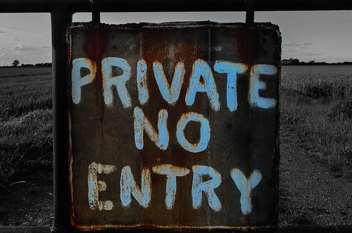 PRIVATE NO ENTRY by Brad Higham, on Flickr