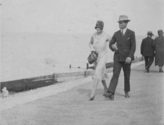 Walking the Promenade 1934 (Bury Gardener) Tags: uk england bw vintage walking 1930s seaside walk promenade oldies 1934