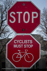 Cyclists must stop