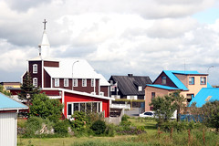 Point Whitmark! (roomman) Tags: wood old trip usa house mountain mountains colour history church nature port landscape island town us wooden iceland nice scenery long harbour style gone american colourful pint eyrarbakki 2014 pointwhitmark whitmark