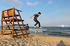 Jumping at Ocean Grove (lisaclarke) Tags: aidan oceangrovenj oceangrove2014