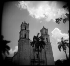 (inwildness) Tags: blackandwhite bw 120 film church architecture analog square mexico holga lomo lomography cathedral kodak tmax valladolid anderson medium format jaechon