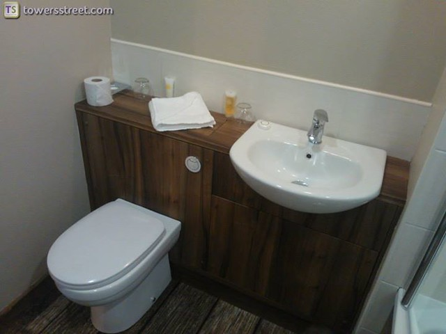 08/08/14 - The toilet and sink area.
