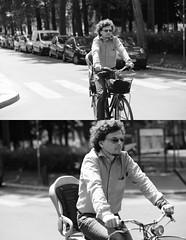 [La Mia Citt][Pedala] (Urca) Tags: portrait blackandwhite bw italia milano bn ciclista biancoenero bicicletta 2014 pedalare 6536 dittico ritrattostradale nikondigitalemir