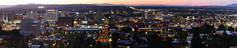 Skyline in the evening (vmf-214) Tags: panorama skyline night evening spokane spokanewa spokanewashington spokaneparkandrecreationdepartment edwidgewoldsonpark