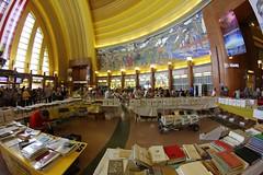 9029 (Marbeck53) Tags: people museum canon eos downtown cincinnati murals books tables oh merchandise persons shoppers humans booksale unionterminal cincinnatimuseumcenter 60d marbeck53 markriesenbeck