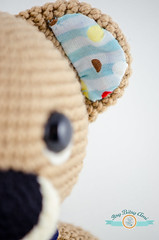 Leon, The Teddy Bear (ItsyBitsyAmi) Tags: bear blue brown cute wool nose nikon pants teddy crochet lion yarn kawaii overalls amigurumi applique fabrix d7000