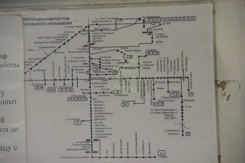 Карта автобусов Подольска компании Мострансавто ©  trolleway