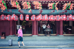 Waiting (jiewphoto) Tags: street red people sculpture building tourism lamp statue architecture tooth asian temple gold town singapore worship asia chinatown buddha buddhist faith religion pray chinese buddhism landmark holy sacred oriental relic mysticism