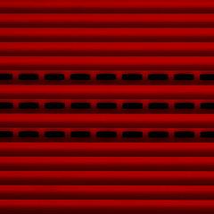 red (a.penny) Tags: red rot texture geometric pattern fuji finepix fujifilm tor feuerwehr muster 1x1 x10 sqaure apenny quardrat