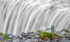 Dettifoss - Iceland (PeterSundberg66 former PeterSundberg65) Tags: bw green nature water stone island waterfall iceland gray smooth split dettifoss 2014
