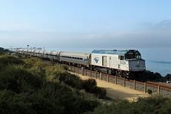 Amrak NPCC90208 162 North bound Sandiegan San Clemente Beach 11 08 2014 (EMD4301) Tags: california amtrak 162 sanclementebeach sandiegan 90208 nonpoweredcabcar