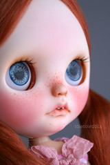 R  E  A  D  Y (toletoledolls (New Account - Add me, please ^^)) Tags: red cute fleurs mouth hair nose doll open charlotte ooak teeth carving lips des plastic tiny blythe freckles tole prairie takara tomy posie scalp redhaired rbl toletole toletoledolls