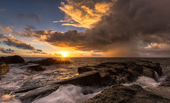 Bitou Cape, Taiwan _IMG_9088 (Len) Tags: sea sky seascape clouds sunrise landscape waves taiwan     seacoast daybreak  keelung