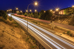 Light trailsCR03 (David S.M.) Tags: light night canon spain highway europe long motorway trails mallorca palma expossure 600d rebelt3i