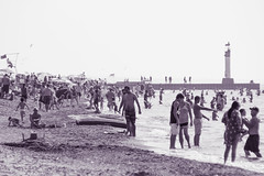 Crowded (trouble4dan) Tags: ocean sea summer vacation travelling tourism beach water pier sand purple crowd beacon 2014 danhamill
