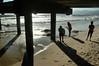 Family Grouping (EmperorNorton47) Tags: california summer digital pier photo afternoon shadows santamonica silhouettes underneath santamonicapier pylons