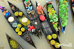 Floating Market in Banjarmasin, Indonesia