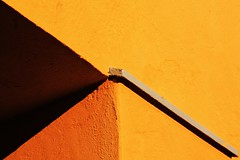 Basic instinct (Jani M) Tags: lines yellow wall corner triangle geometry diagonal trigonometry
