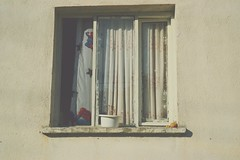 Dikili, 2014 (zlem zelik) Tags: trip summer sun white holiday window lemon view curtain spiderman