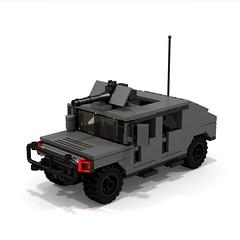 BRIX Military HMMWV Hummer V1.0 Fastback (IK) Tags: lego military hummer ldd hummvee