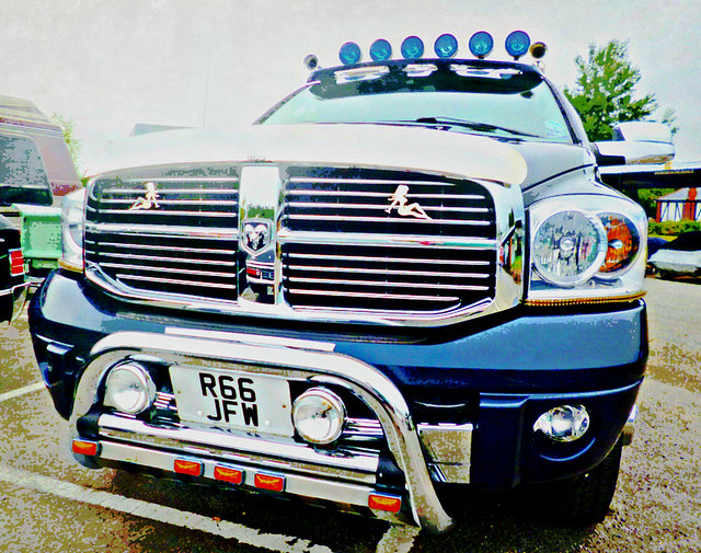 uk surrey weybridge september7th2014dodgeram3500heavydutyturbodieselclassicamericandaybrooklands