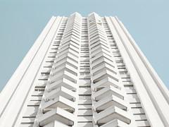 Marciel - Le Grand Pavois (LEVARWEST) Tags: blue sky building vintage marseille bleu ciel minimalistic immeuble archi minimaliste grandpavois marciel serie epure