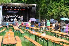 Bühne im Regen