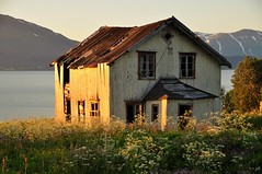 The old house in the light of the midnight sun. (AmundBrathen) Tags: norwaylight norway nature old house midnightsun midnight