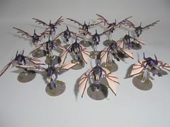 tyranid gargoyles (whitewashcommissions) Tags: nids tyranids warhammer 40k gamesworkshop tabletop strategy games miniatures airbrush