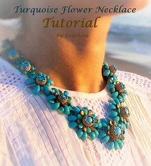 Tutorial of turquoise flower necklace (Ezartesa) Tags: tutorial seedbeadtutorialnecklacetutorialseedbeadpatternbeadtasseltutorialhowtobeadezartesabeadweavingtutorial