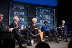 The panel took place in the Walter and Leonore Annenberg Theater at the Newseum.