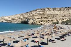 Matala beach and caves (raffaele pagani) Tags: matala creta crete grecia greece villaggiopescatori fishingvillage beach grotte caves canon hippies jonimitchell song carey