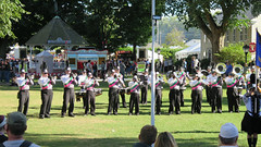 Marching band (Coyoty) Tags: drum drumcorp music band marchingband marching agawam massachusetts easternstatesexposition thebige fair fairgrounds horn tuba bugle grass flickrfriday precision people green newengland autumn fall gazebo