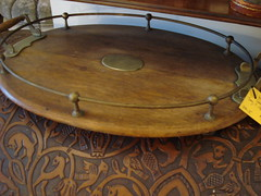 "WOODEN GALLERY RIM TRAY,C. 1910. • <a style=""font-size:0.8em;"" href=""http://www.flickr.com/photos/51721355@N02/29696938514/"" target=""_blank"">View on Flickr</a>"