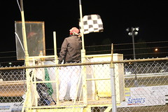 9.3.16 Manitowoc Speedway finale - final checkered flag ever (royal_broil) Tags: manitowocspeedway manitowoccountyexpospeedway manitowoccountyfairgrounds manitowocwisconsin checkeredflag finalcheckeredflag