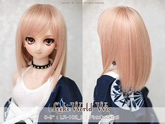 "FS: LeekeWorld wig / 8-9"" LR-102 / PinkCocktail (TURBOW) Tags: doll volks dollfiedream dd dollfiedreamsister dds sakuyaizayoi littleladyfaceup leekeworldwig"