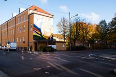 Graffiti in backlight (Maria Eklind) Tags: colorful art norraskolgatan sweden graffiti streetart blockingthestreet streetview malmö malm㶠skã¥nelã¤n sverige se