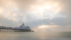 sunrise at Eastbourne Pier (southdownswolf1) Tags: eastbourne sussex beach cloud clouds cokin exposure filter lee long morning nd pier sea stones sunrise waves