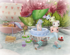 Cubic Cherry Heaven (skyleroctober) Tags: utilizator parfait ayashi cubic cherry kreations 8f8 anc boat fish fox cat sushi cute kawaii kokoro pond tree lily butterfly butterflies bear burger whimsical paper origami garden summer swim