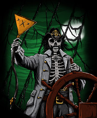 K:O:A t-shirt design (samezzz) Tags: lemmy motorhead kilmister skeleton zombie pirate metal ship night green merch merchandise legend god