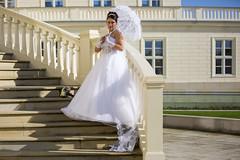 Auf der Treppe (DeanB Photography) Tags: treppe hochzeit herrenhuser grten hannover liebe kleid schloss schirm