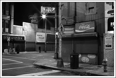 Halsey and Branford -  Newark, NJ  (2009) (Ebanator) Tags: newark newarknj newjersey halseystreet branfordplace hobbysdelicatessen hobbysdeli nightphotography urban street streetphotography nikond200 tamronspaf2875mmf28xrdi tamron2875mmf28