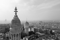 The Basilica of Sacr-Cur. (Mr Justin Jim) Tags: basilica sacrcur paris france black white blackandwhite city cityscape buildings canon 5d mark iii 24105mm clouds fade