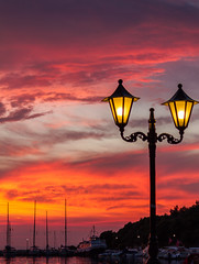 Harbour Lights ( Look at those colours) (Sivota Harbour - Greece) (Canon EOS 7D & EF-S 55-250mm Telephoto Zoom) (1 of 1) (markdbaynham) Tags: sunset cloud sky colour sivota greece greek hellas hellenic grecia greka gr harbour view landscape canon canonite canonites eos 7d dslr apsc efs 55250mm telephoto
